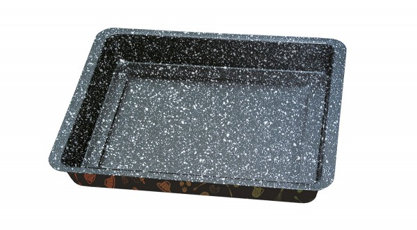 STONELINE® cake pan, extra deep, 28.5 x 23 cm, non-stick, with prism effect