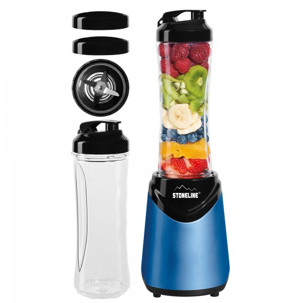 STONELINE® Smoothie-Blender-Lot, 8-pcs, bleu foncé