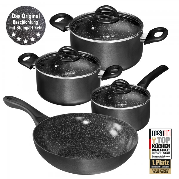 STONELINE® CERAMIC Cookware set, set of 7, with glass lids