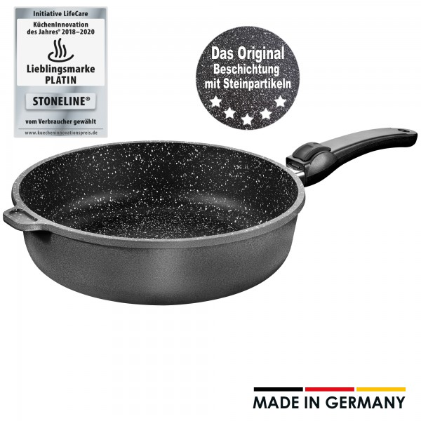 STONELINE® stewing pan, 28 cm, with removable handle, Made in Germany