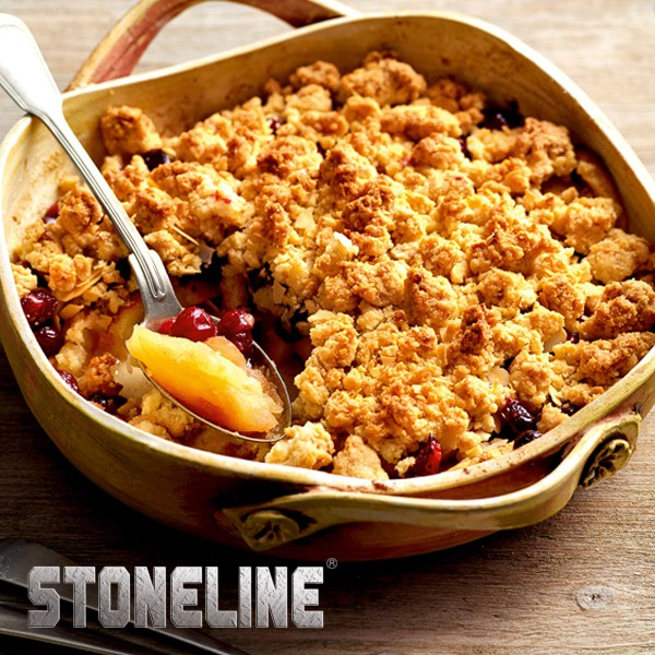 Apfel-Cranberry-Crumble