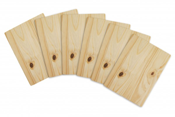 STONELINE® 6 pc Breakfast boards set, 20 x 15 x 1 cm