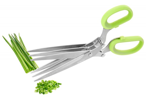 STONELINE® Herb scissors with 3 blades and blade protection