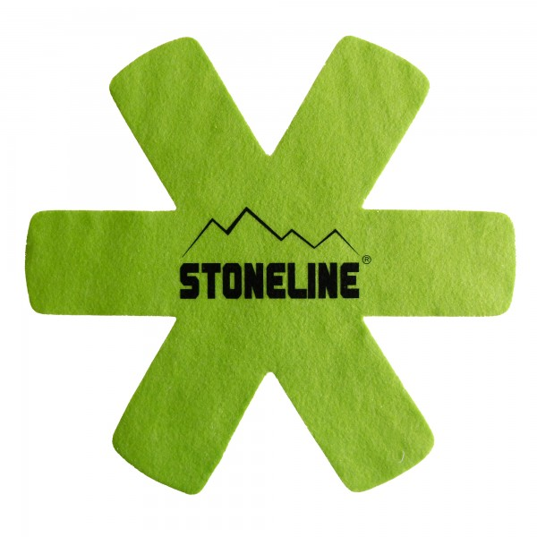 STONELINE® Pan protector set, set of 2 fiber mats, green