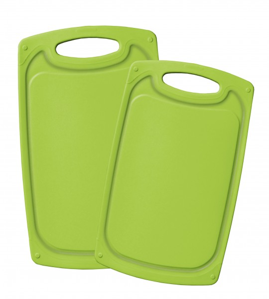 STONELINE® Schneidebrett-Set, 2-tlg., lemon green