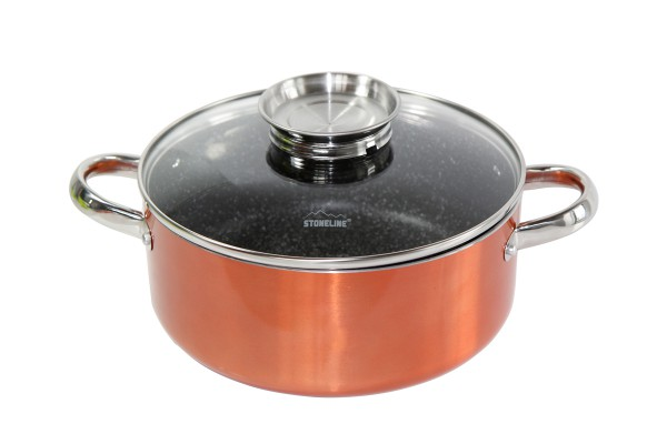 STONELINE® Elégance Roasting pot 24 cm, with aroma glass lid