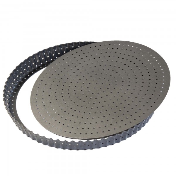 STONELINE® Round baking pan 28 cm, with removable base and micro holes