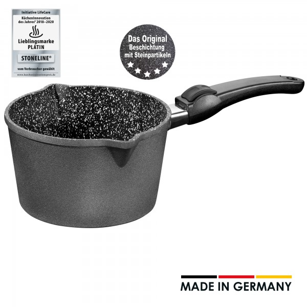 STONELINE® Made in Germany sauce pan, 18 cm, with removable handle
