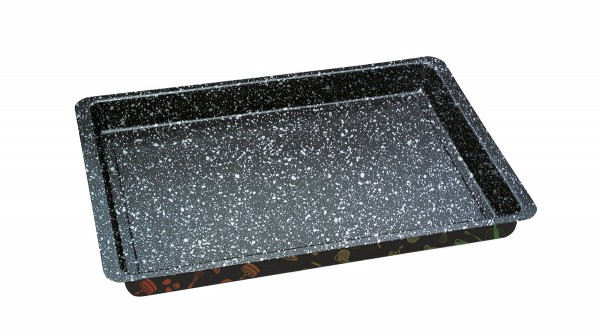 STONELINE® baking sheet extra deep, 28.5 x 23 cm, non-stick, with prism effect