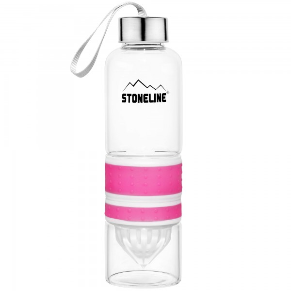 STONELINE® 2 in 1 Drinking bottle with integrated juicer, pink