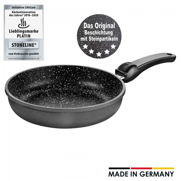 STONELINE® frying pan 20 cm, deep, with removable handle, Made in Germany
