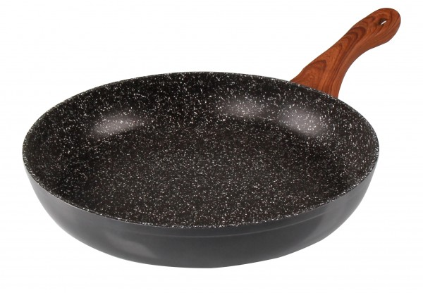 STONELINE® Back to Nature Frying pan 28 cm, with Wood-Effect Handle