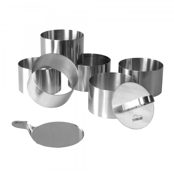 STONELINE® Dessert and appetizer ring set, set of 8, stainless steel