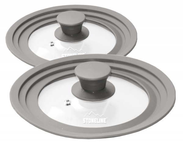 STONELINE® 2er Set multifunktionale Glasdeckel