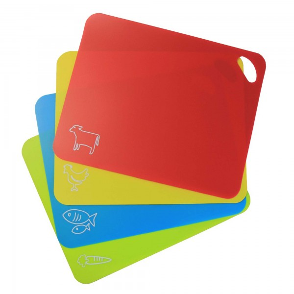 STONELINE® Flexible cutting mat set 38 x 30.5 cm, set of 4, red, yellow, blue, green