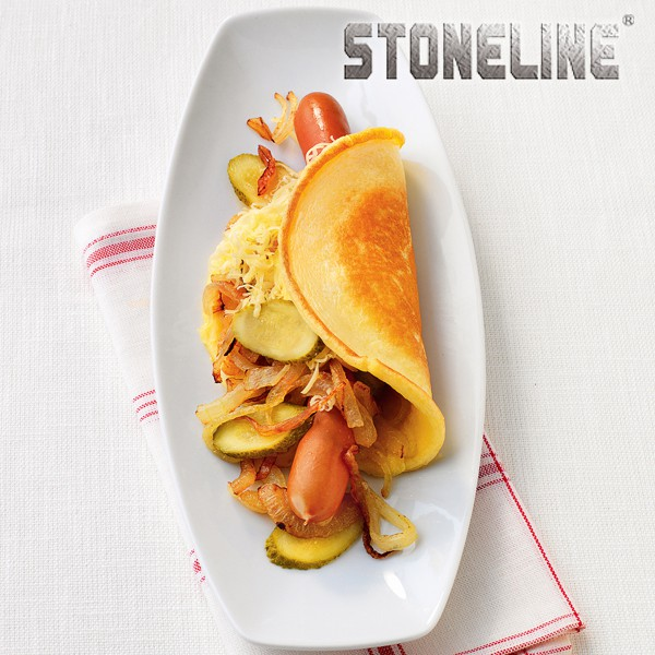 Hot dog con pancake
