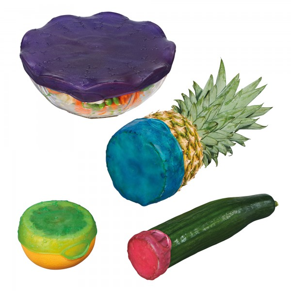 STONELINE® Reusable freshness protection set for fruits and containers, 4 pc