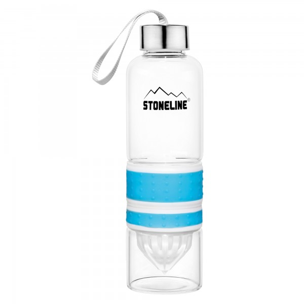 STONELINE® 2 in 1 Drinking bottle with integrated juicer, blue