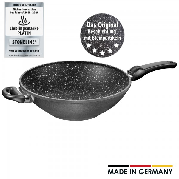 STONELINE® Made in Germany wok, 32 cm, with removable handle