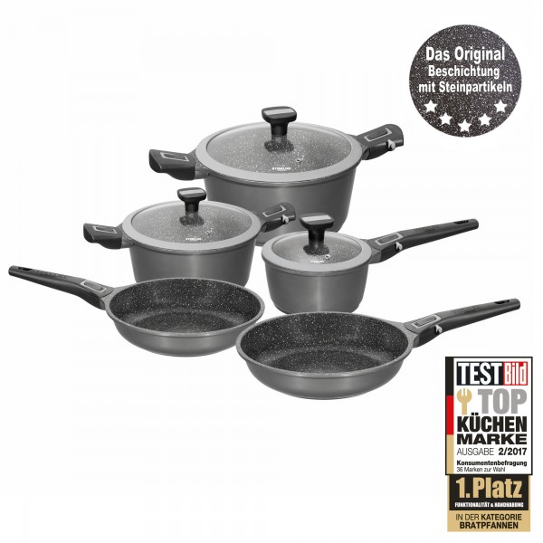 STONELINE® Imagination PLUS Cookware set, set of 8, with removable handles