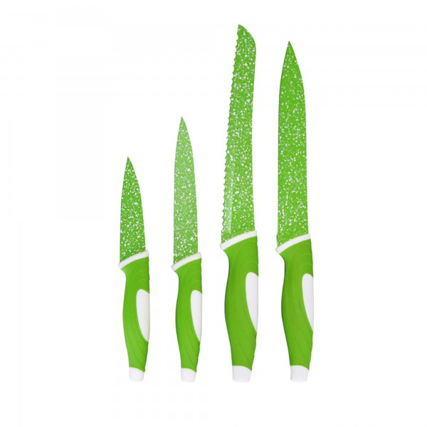 STONELINE® Stainless steel knife set, 4-piece, green
