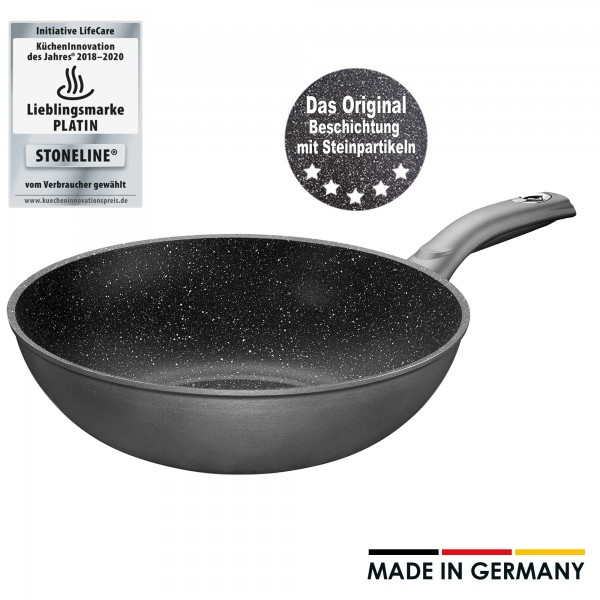 STONELINE® Gourmundo Wok 30 cm, Made in Germany