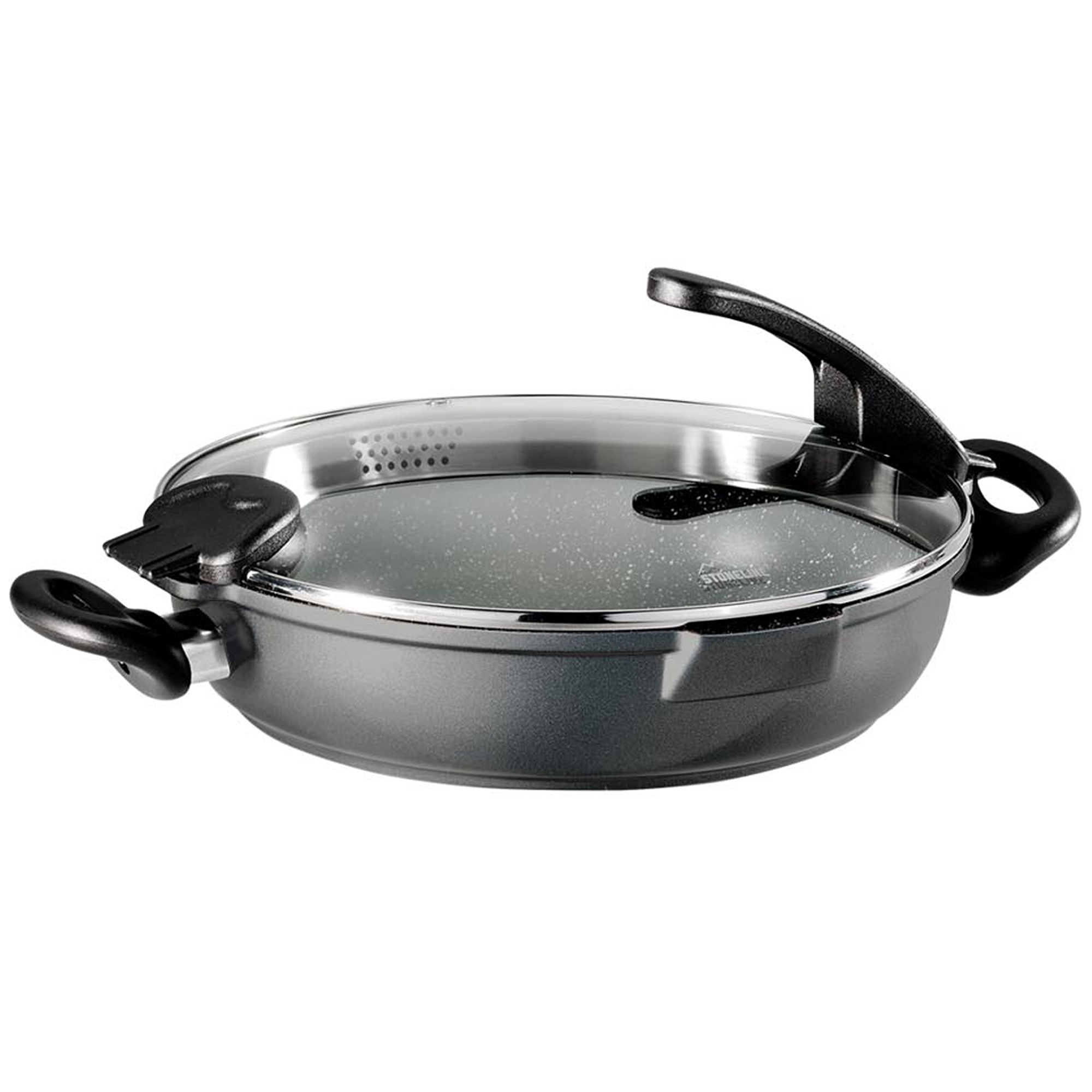Stoneline 174 Future Serving Pan 32 Cm With Sieve Glass Lid