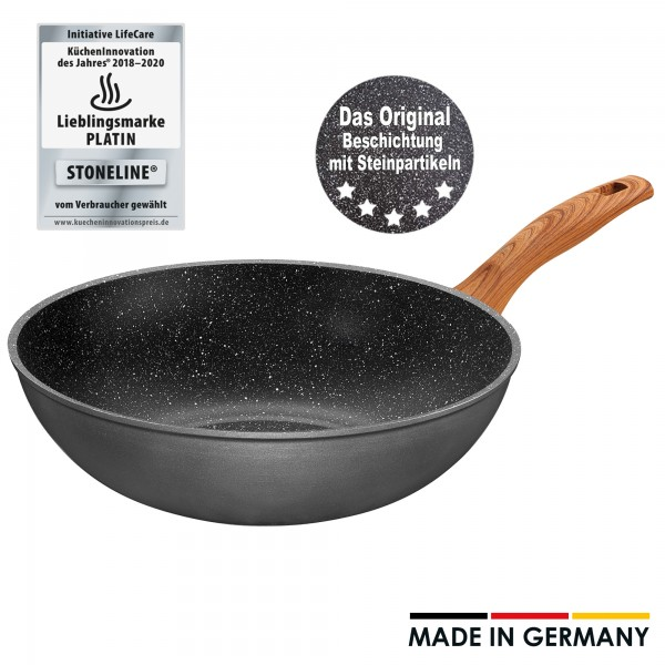 STONELINE® Back to Nature Wok 30 cm, Made in Germany