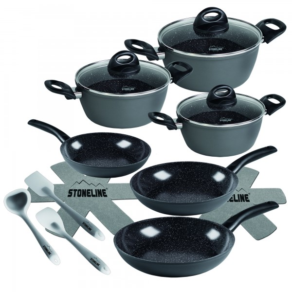 STONELINE® CERAMIC Cookware set, set of 14, with glass lids