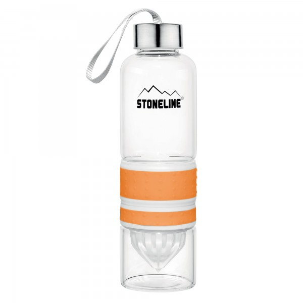 STONELINE® 2 in 1 Drinking bottle with integrated juicer, orange