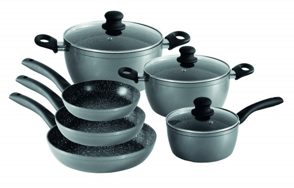 STONELINE® Cookware set, set of 9, with glass lids