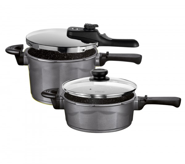 STONELINE® Die-cast pressure cooker set, set of 4