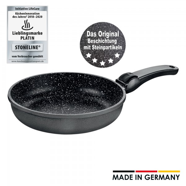 STONELINE® Made in Germany frying pan, 26 cm, with removable handle
