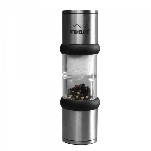 STONELINE® 2-in-1 stainless steel salt and pepper mill