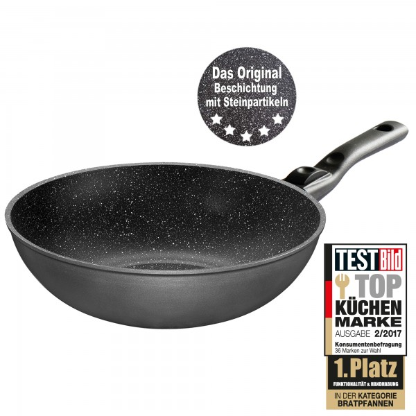 STONELINE® Made in Germany Wok 30 cm, con manico estraibile