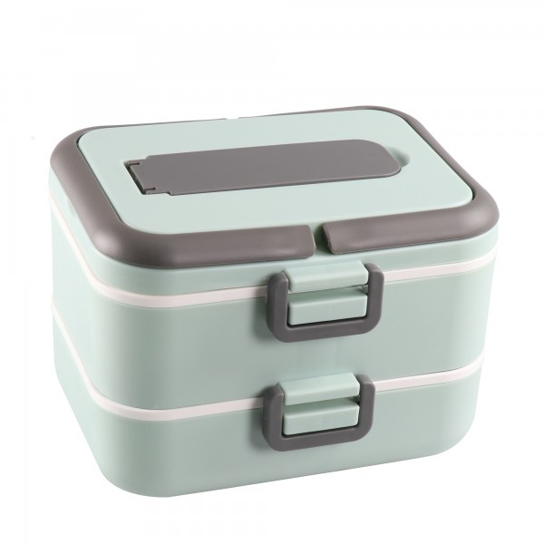 STONELINE® Stackable thermal lunch box, 5-piece, with 2 x 750 ml compartments