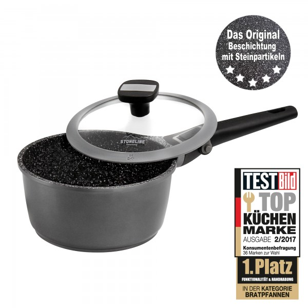 STONELINE® Imagination PLUS Saucepan 18 cm, with removable handle, with glass lid