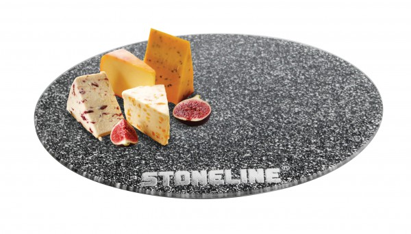 STONELINE® Glass serving plate or coaster, 40 cm
