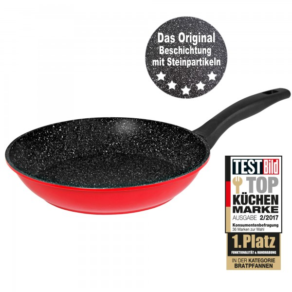 STONELINE® Frying pan 24 cm, ruby red