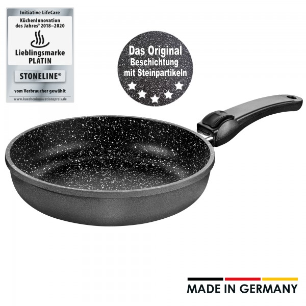 STONELINE® Made in Germany frying pan, 24 cm, with removable handle