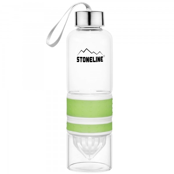 STONELINE® 2 in 1 Drinking bottle with integrated juicer, green