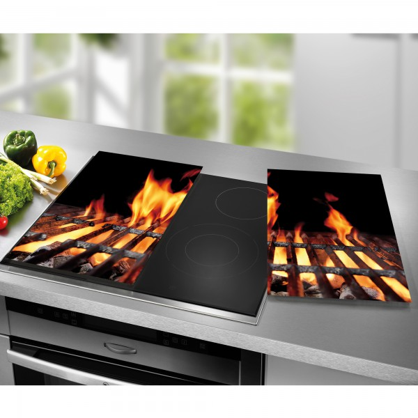 STONELINE® Cooktop cover plates / cutting board set, set of 2