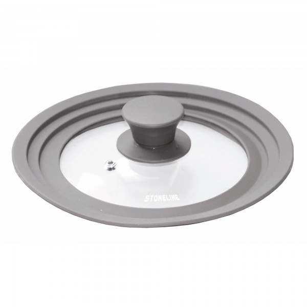 STONE Multi-purpose glass lid with silicone rim, for 16/18/20 cm