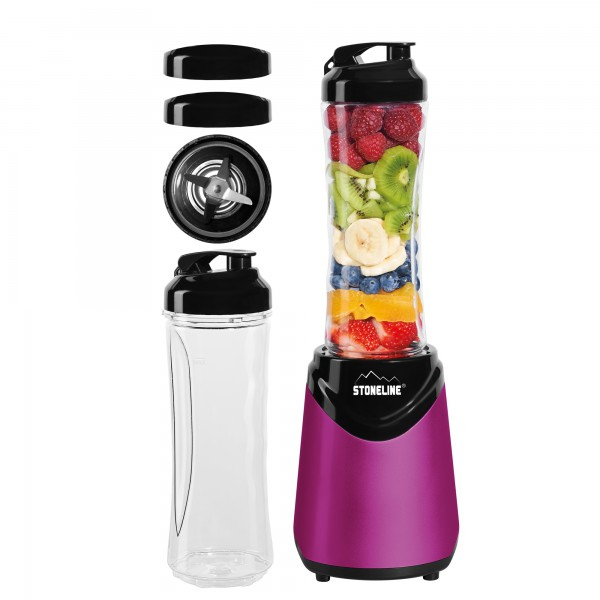 STONELINE® Smoothie-Blender-Lot, 8-pcs, rose vif
